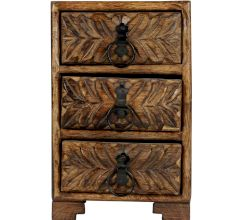 Wooden Box With 3 Drawers