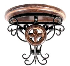 Wood & Wrought Iron Fancy Wall Bracket