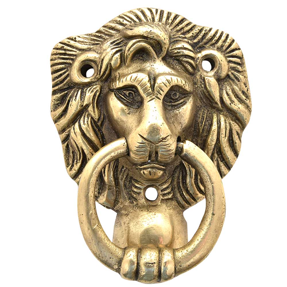 Brass Majestic Lion Door Knocker