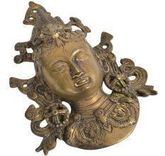 Bronze Tibetan Buddha Face Wall Hanging