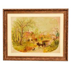 A Set Of 5 Old And Rare Framed German Prints