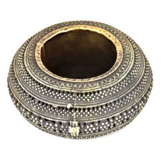 Bronze Jali Design Circular Ashtray