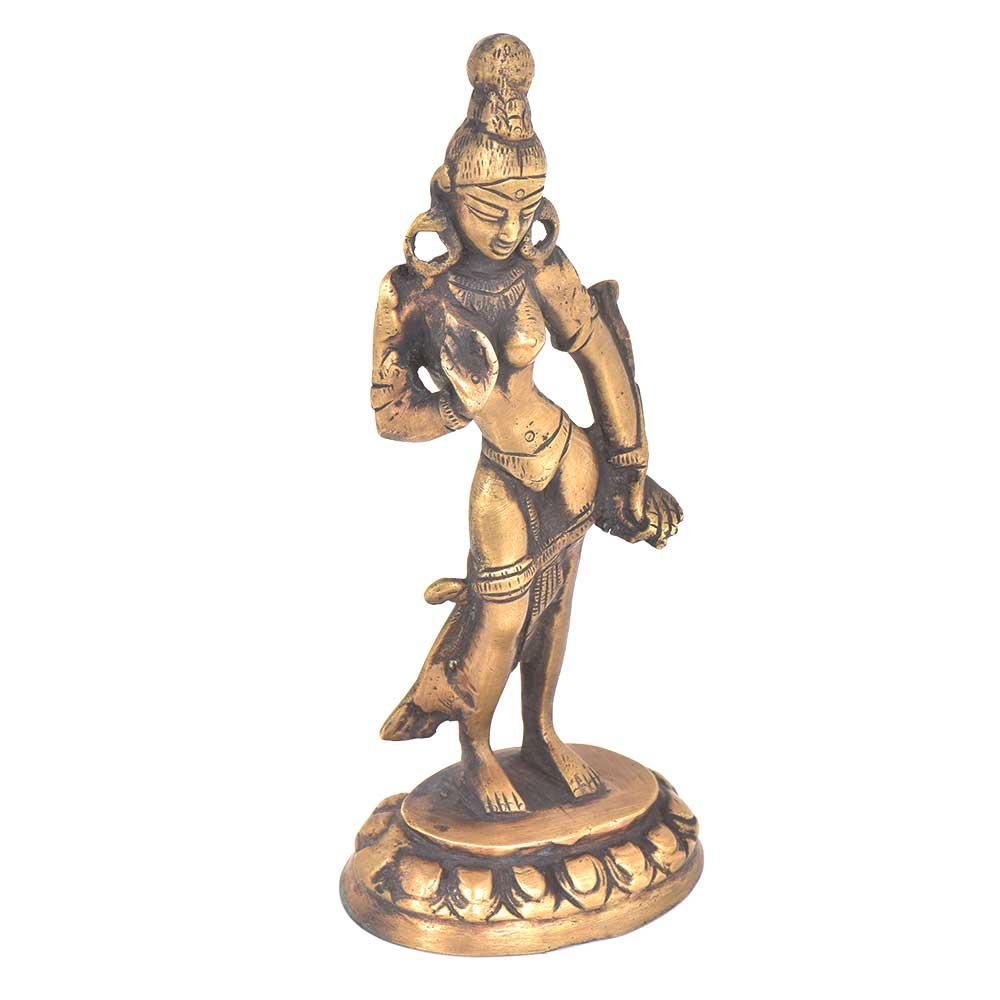 Brass Bodhisattva Tara Deity Statue