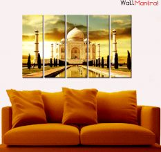 Taj Mahal Premium Canvas Wall Hanging
