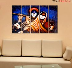 Radha & Krishna Canvas Wall Hanging