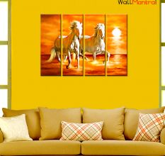 Horses Painting Premium Quality Canvas Wall Hanging