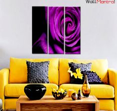 Violet Rose Premium Quality Canvas Wall Hanging