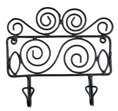 Rural Wrought Iron Hook Coat Home Organizer