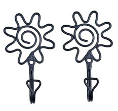 Floral Wrought Iron Wall Hook(Set of 2 Pieces)
