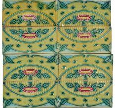 Vintage Retro Ceramic Tile Pattern