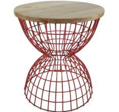 Golden Iron & Wooden Table