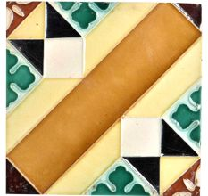 Ceramic Tile With Beautiful Geometric Shapes