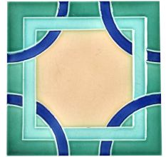 Blue Shades Ceramic Geometric Design Tile