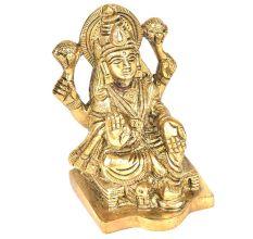 Brass Lakshmi & Owl Figurine
