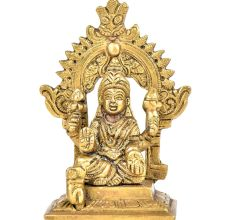 Brass Gaja Lakshmi With Kirtimukha Top