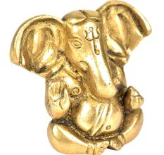 Brass Ganpati With Long Ears 1.7 inches