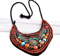Handmade Collar Beaded Ladakh Necklace
