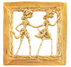 Brass Dokra Handmade Tribal Figurines Wall Hanging