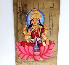 Phad On Postcard (Mata Laxmi Unframed)