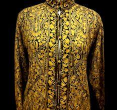 Designer Collection Jackets Short Sami Pashmina Fabric In Yellow
