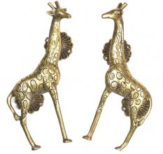 Brass Golden Giraffe Door Handle