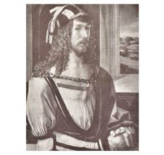 Print Of Albrecht Durer painted 'Self-Portrait at 26 (with gloves)