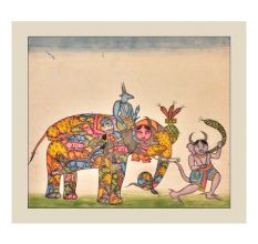 Print Of Rare Indian Composite Elephant
