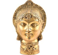 Brass Devi Mukhota Lady Head Statue