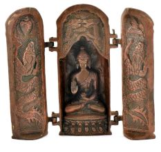 Brass Handcrafted Exclusive Buddha Shrine with Zushi Box
