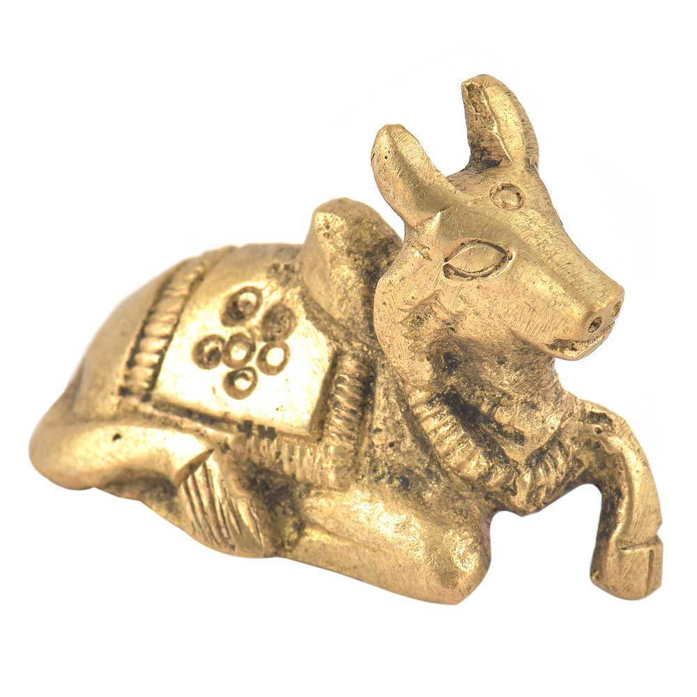 Handmade Brass Sitting Nandi Staute