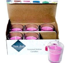Set Of 6 Lavender Spa Votive Candle