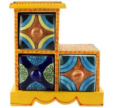 Spice Box-1009 Masala Rack Container Gift Items