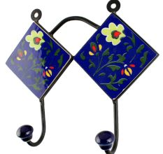 Navy Blue Ceramic Tile Hook Online