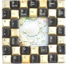 Handmade Computer keyboard Photo Frame