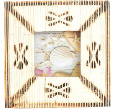 Horizontal Speed Lines Engraved Square Photo Frame