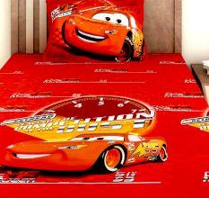 Bombay Dyeing Disney Kids Bedsheet : Cars (Doc vs McQueen)
