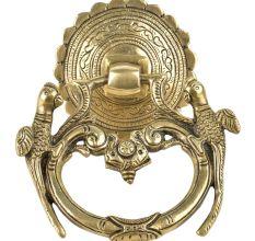 Ornate Brass Peacock Door Knocker