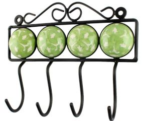 Lime Green Ceramic Tile Hook