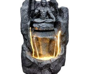 Designer Pahadi Lord Shankar Water Fountain In Black