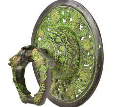 Handmade Ornate Green Brass Door knocker