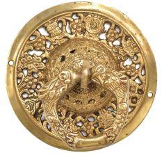 Handmade Ornate Golden Brass Door knocker