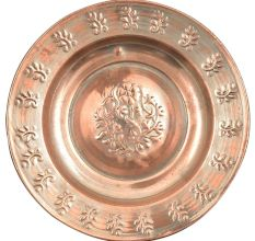 Handmade Star Flowers Embossed Layers Copper Plate Or Wall Hanging