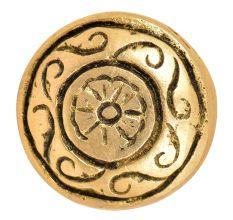 Engraved Floral Round Brawer Knob