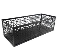 Metal Basket In Black