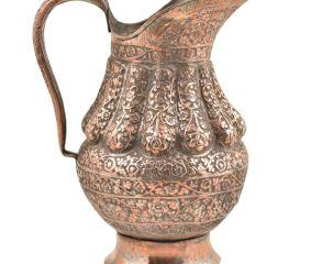 Vintage Repouss� Copper Water Jug