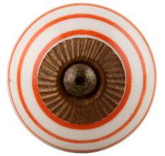 White Orange Knob