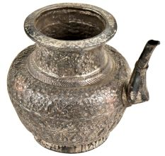 Embossed Floral Design Water Pot With  Spout