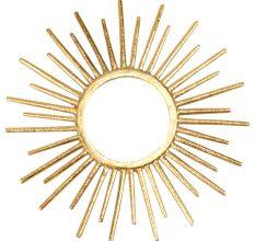 Aluminum Glass Sun Design Mirror