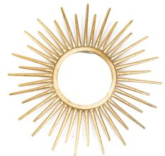Aluminum Glass Sun Design In Golden