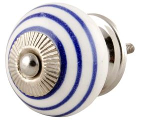 White Navy Blue Knob